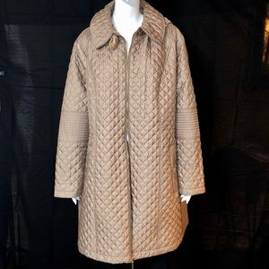 Michael Kors Truffle Quilted Coat Detachable Hood